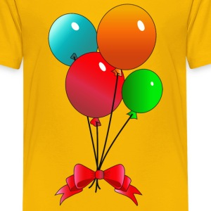 Balloons (add your own text) - Kids' Premium T-Shirt