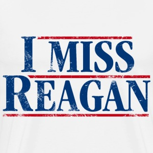 I Miss Reagan, distressed look - Men's Premium T-Shirt