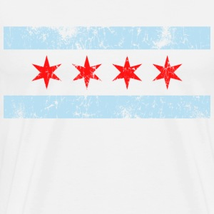 Vintage Chicago Flag - Men's Premium T-Shirt
