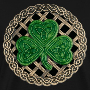 Black Celtic Shamrock Shirt - Men's Premium T-Shirt