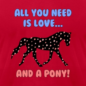 Love and a Pony T-Shirts - Men's T-Shirt by American Apparel