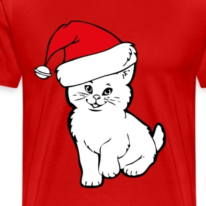 cat santa T-Shirts - Men's Premium T-Shirt