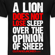 Design ~ A Lion | Mens Larger Sized Tee