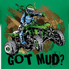Kawasaki Quad Got Mud Kids' Shirts