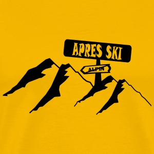 apres ski,ski,party,winter,snowboard,ride,hut T-Shirts - Men's Premium T-Shirt