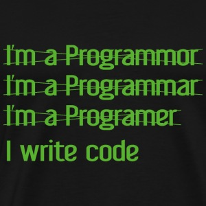 I Write Code - Men's Premium T-Shirt