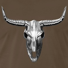 Heavy Metal - Chrome Cow Skull T-Shirt
