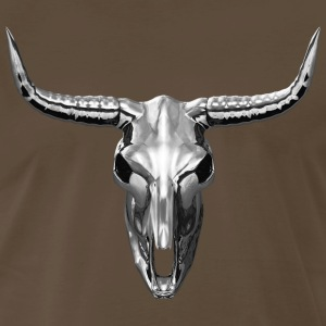 Heavy Metal - Chrome Cow Skull T-Shirt - Men's Premium T-Shirt