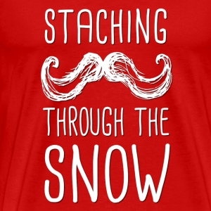 Staching Through the Snow T-Shirt - Men's Premium T-Shirt