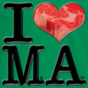 I Love MA - MeAt (for light-colored apparel) T-Shirts - Men's Premium T-Shirt