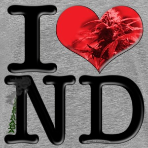 I Love ND - contrabaND (plant, for light apparel) T-Shirts - Men's Premium T-Shirt