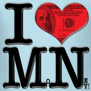 I Love MN - MoNey (for light-colored apparel) T-Shirts - Men's T-Shirt