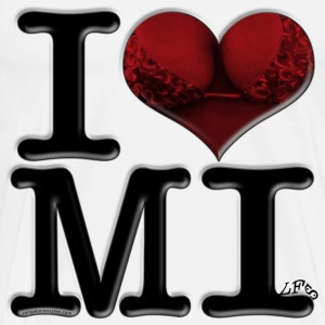 I Love MI - MI-lfs (for light-colored apparel) T-Shirts - Men's Premium T-Shirt