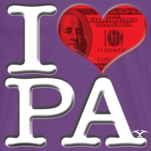 I Love PA - PAy (for dark-colored apparel) T-Shirts - Men's Premium T-Shirt
