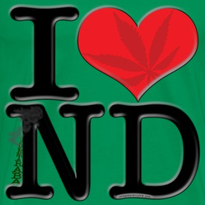 I Love ND - contraband (leaf, for light apparel) T-Shirts - Men's Premium T-Shirt