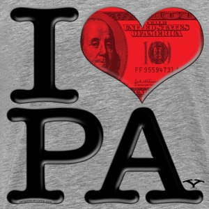 I Love PA - PAy (for light-colored apparel) T-Shirts - Men's Premium T-Shirt