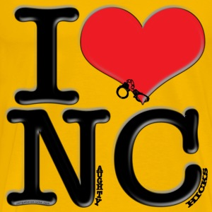 I Love NC - Naughty Chicks (for light apparel) T-Shirts - Men's Premium T-Shirt