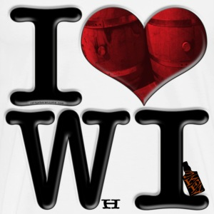I Love WI - WhIskey (for light-colored apparel) T-Shirts - Men's Premium T-Shirt