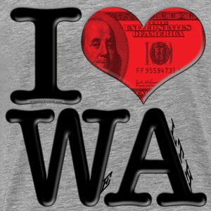 I Love WA - WeAlth (for light-colored apparel) T-Shirts - Men's Premium T-Shirt