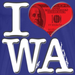 I Love WA - WeAlth (for dark-colored apparel) T-Shirts - Men's Premium T-Shirt