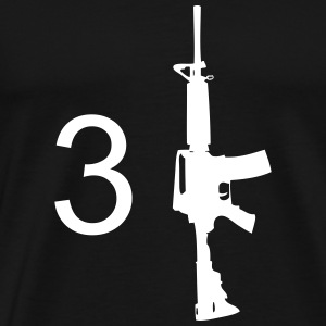 3 Gun Mens Black T-shirt - Men's Premium T-Shirt