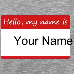 Hello, my name is - tee integrated name tag - Men's Premium T-Shirt