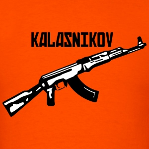 Kalasnikov - the classic soviet AK47 gun - Men's T-Shirt