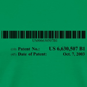 US Patent #6630507 - Men's Premium T-Shirt