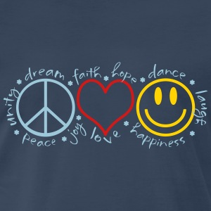 Peace Love Laugh - Men's Premium T-Shirt