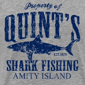 Quint's Shark Fishing Amity Island - Men's Premium T-Shirt