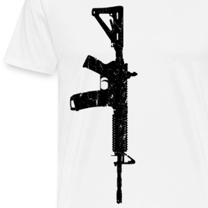 Men's White Wash Worn AR15 T-Shirt - Men's Premium T-Shirt