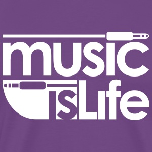 Music is Life T-Shirts - Men's Premium T-Shirt