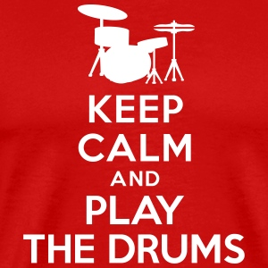 Keep calm and play the drums T-Shirts - Men's Premium T-Shirt