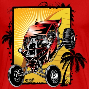 Red Downhill Dune Buggy T-Shirts - Men's Premium T-Shirt