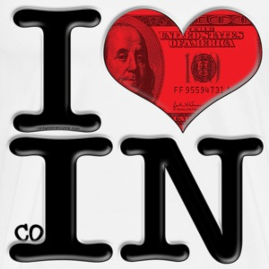 I Love coIN (for light-colored apparel) T-Shirts - Men's Premium T-Shirt