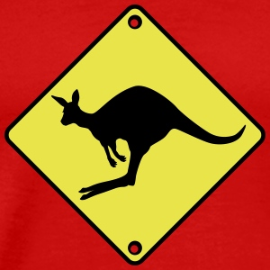Kangaroo road sign T-Shirts - Men's Premium T-Shirt
