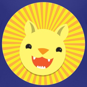 cute little Kawaii lion face smiling Kids' Shirts - Kids' Premium T-Shirt