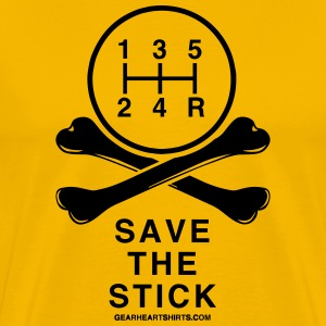 Save the Stick - Bones - Men's Premium T-Shirt