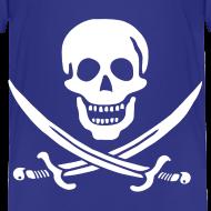 Design ~ Jolly Roger Pirate Toddler Tee - Skull and Crossbones Pirate Design Logo
