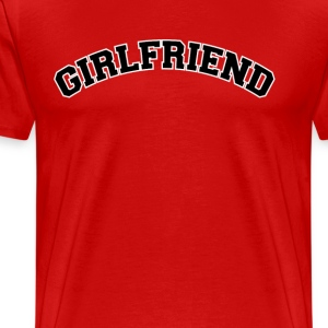 girl friend  T-Shirts - Men's Premium T-Shirt