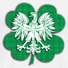 Irish Polish Heritage Eagle Shamrock