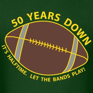 50th Birthday Football T-Shirts - Men's T-Shirt