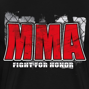 mma fight for honor T-Shirts - Men's Premium T-Shirt