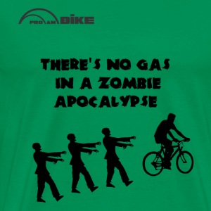 Cycling T Shirt - There's No Gas in a Zombie Apoca - Men's Premium T-Shirt