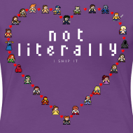 Design ~ I Ship It - Women's Plus Sized Pixel Character Heart Tee