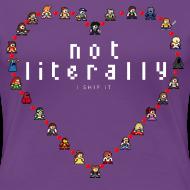 Design ~ I Ship It - Women's Plus Sized Pixel Character Heart Tee