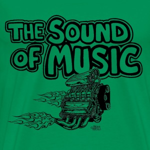 blown_engine_with_flames_the_sound_of_music T-Shirts - Men's Premium T-Shirt