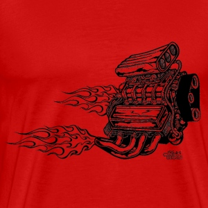 engines_with_horizontal_flames T-Shirts - Men's Premium T-Shirt
