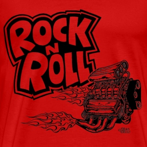rock_n_roll_with_blown_engine T-Shirts - Men's Premium T-Shirt