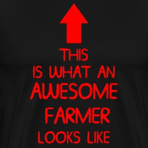 AWESOME FARMER T SHIRT MENS LADIES XMAS GIFT DI 00 - Men's Premium T-Shirt